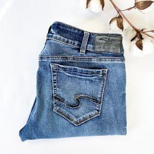 31x32 Suki Straight Silver Jeans
